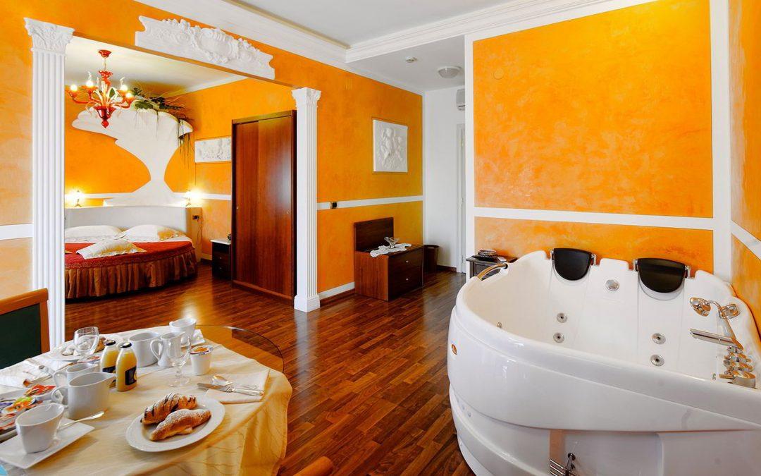 Soggiorno 2 notti in suite con vasca idromassaggio con for Soggiorno e spa
